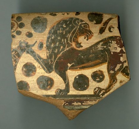 Ancient Peoples - Fragment of a bowl 580-570 BC East Greek/Archaic... | Ancient Origins of Science | Scoop.it
