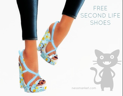 Agatha Shoes For Slink High Free Gift - NessMarket | 亗 Second Life Freebies Addiction & More 亗 | Scoop.it