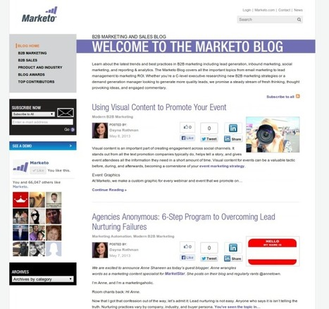 Anatomy of a Blog Redesign – 10 Best Practices from Marketo | B2B Startup Marketing | Scoop.it