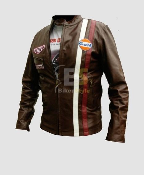 Mythos Steve McQueen Gulf Heuer Jacket gives off sleek personality   Steve Mcqueen Jackets   Scoop.it