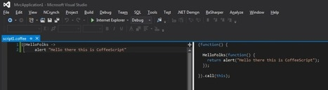 Create CoffeeScript using Visual Studio and the Web Essentials Add-On | JavaScript for Line of Business Applications | Scoop.it