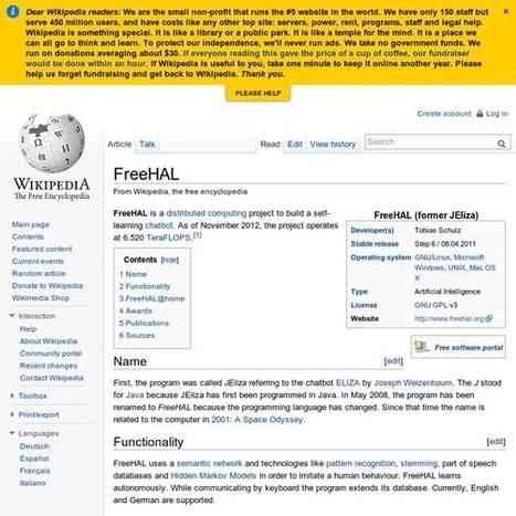 FreeHAL - Wikipedia, the free encyclopedia   Cyborgs_Transhumanism   Scoop.it