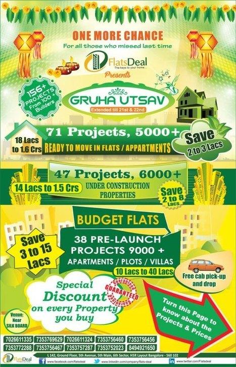 FDI Bangalore GruhUtsav Special Discount on Apartments, Plots, Villas | Flats Deal|Apartments in Bangalore | Scoop.it