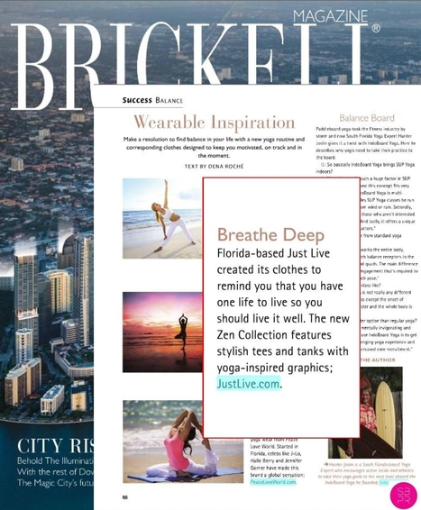 Just Live Just Live in Brickell Magazine | Just Live Apparel | Scoop.it