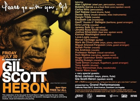 Peace Go With You, Gil: A Celebration Of Gil Scott-Heron - 07.20.2012 // WATCH | Gil Scott-Heron and Brian Jackson | Scoop.it