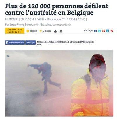 120.000 manifestants à Bruxelles mais des «casseurs» à la une : traitement médiatique biaisé ? | EcritureS - WritingZ | Scoop.it