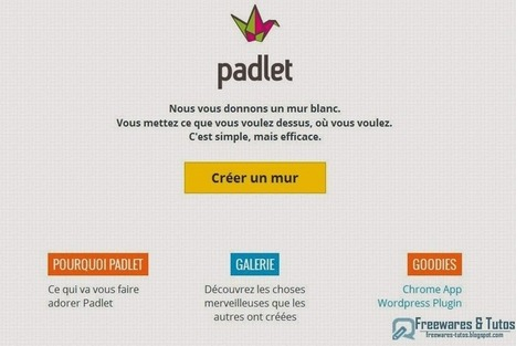Padlet : votre mur virtuel collaboratif en ligne - Freewares & Tutos | Moodle and Web 2.0 | Scoop.it