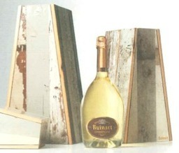 Ruinart use recycled wood for new package | Epicure : Vins, gastronomie et belles choses | Scoop.it