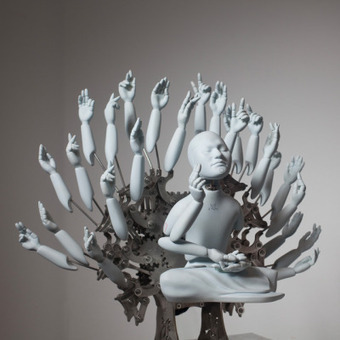 Meditating Mechanical Cyborg Sculptures by Ziwon Wang | Cyborgs_Transhumanism | Scoop.it