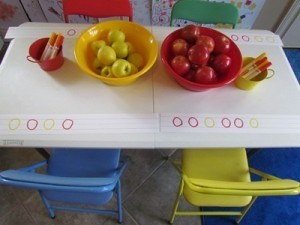 Making apple patterns in preschool | Digital story | Scoop.it