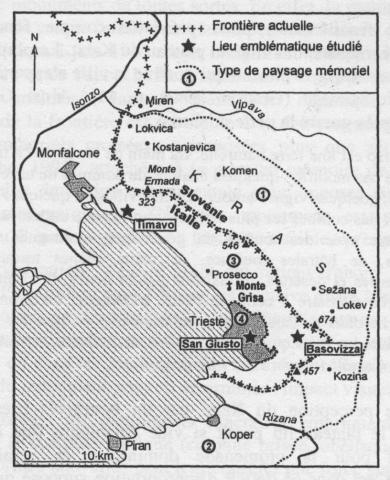 Frontière italo-slovène et province de Trieste. Lecture d'un paysage monumental et mémoriel (Géographie et Cultures) | Géographie des Balkans | Scoop.it