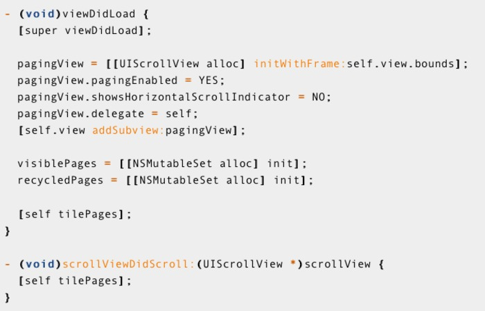 Never-ending paging UIScrollView | iPhone and iPad development | Scoop.it