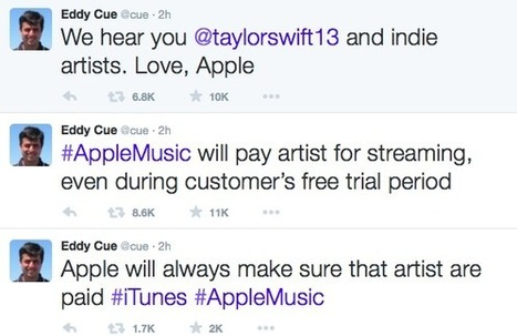 Apple Music: Artists WILL be paid for free trial after Taylor Swift letter - Music Business Worldwide | independent musician resources | Scoop.it