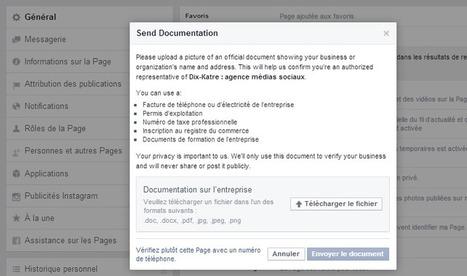 Pourquoi et comment faire vérifier la page Facebook de votre entreprise ? | Usages professionnels des médias sociaux (blogs, réseaux sociaux...) | Scoop.it