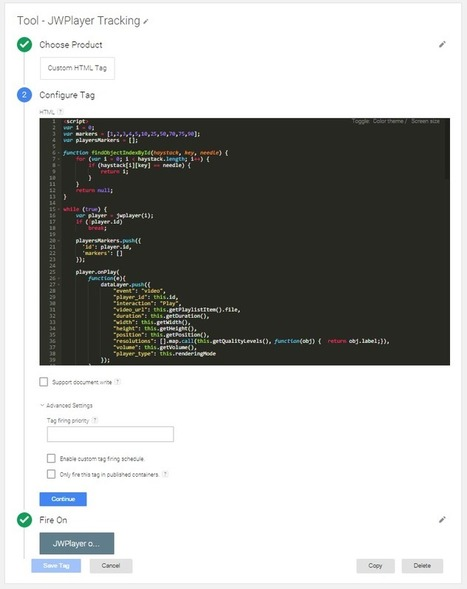 JWPlayer video tracking using Google Tag Manager | David Vallejo – Consultor Google Analytics | Google Tag Manager & Universal Analytics | Scoop.it