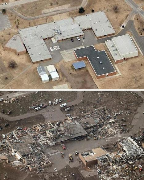 Before and after: Tornado cuts devastating path through Oklahoma | GTAV AC:G Y7 - Water in the world | Scoop.it