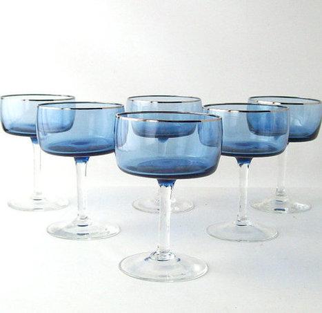 vintage cobalt blue stemware glassware | Cristaleria tavo | Scoop.it
