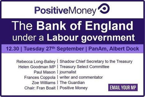 Tweet from @PositiveMoneyUK | The Money Chronicle | Scoop.it