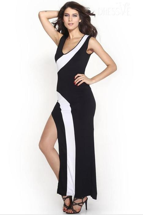 Joint Slit S Curve Sexy Dress | Dressve fashion | Scoop.it