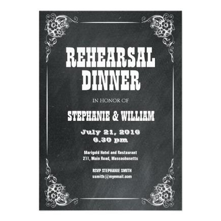 Vintage Chalkboard Rehearsal Dinner Card 2013 | Wedding Photography | Scoop.it