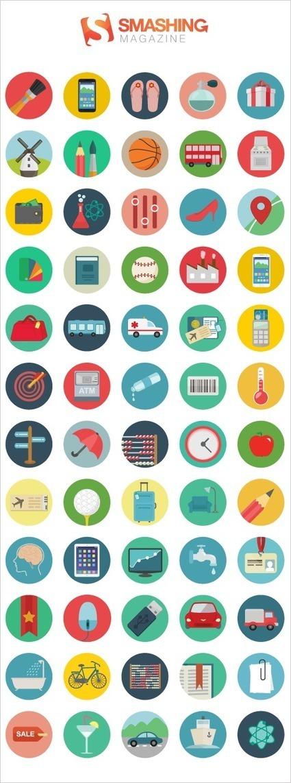 Freebie: Roundicons Icon Set (60 Icons, PNG, SVG, EPS, AI) | Smashing Magazine | Graphic Design | Scoop.it