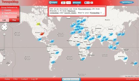 Map Your Twitter Followers With TweepsMap   Social Media Italy   Scoop.it