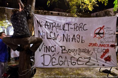 Une cinquantaine de personnes à Montpellier contre «l'Ayraultport» (vidéo) – Montpellier journal   Collectif NDDL 34   Scoop.it