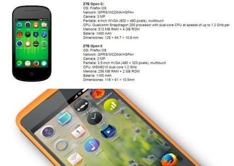 ZTE Open C y ZTE Open II, dos móviles con Firefox OS 1.3 en el #mwc2014 | Ultimate Tech-News | Scoop.it