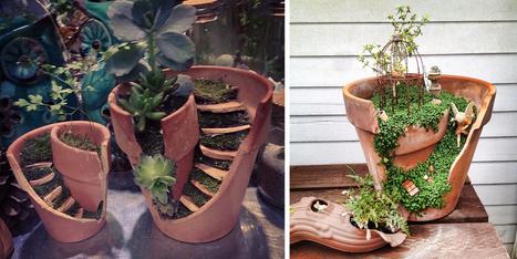 Broken Pots Turned Into Brilliant DIY Fairy Gardens   Transición   Scoop.it