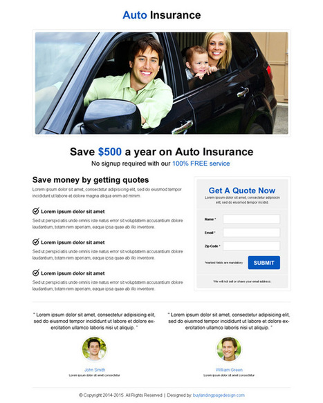 minimalist-auto-insurance-res-lp-004 | Auto Insurance responsive landing page design preview. | buy landing page design | Scoop.it