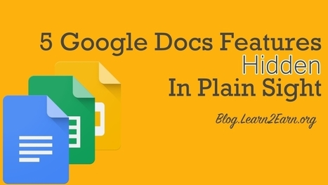 5 Google Docs Features Hidden in Plain Sight | Jewish Education Around the World | Scoop.it