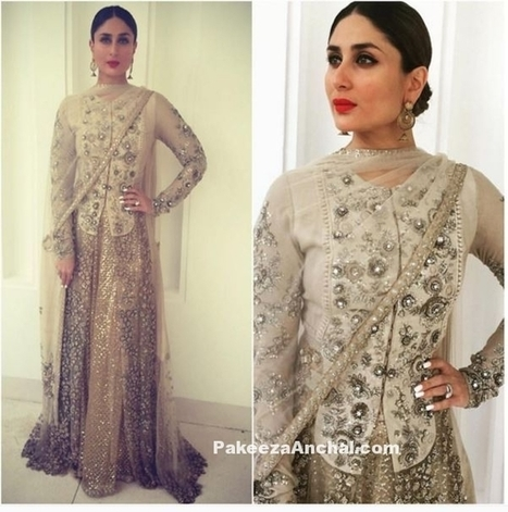 Kareena Kapoor Khan in Royal Sabyasachi Outfit in Muscat | styleuneed | Scoop.it