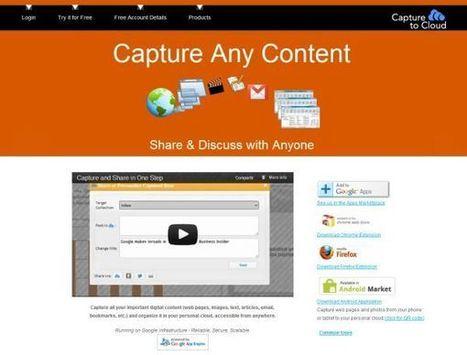 CaptureToCloud – captura, gestiona y comparte contenidos web | Herramientas digitales | Scoop.it