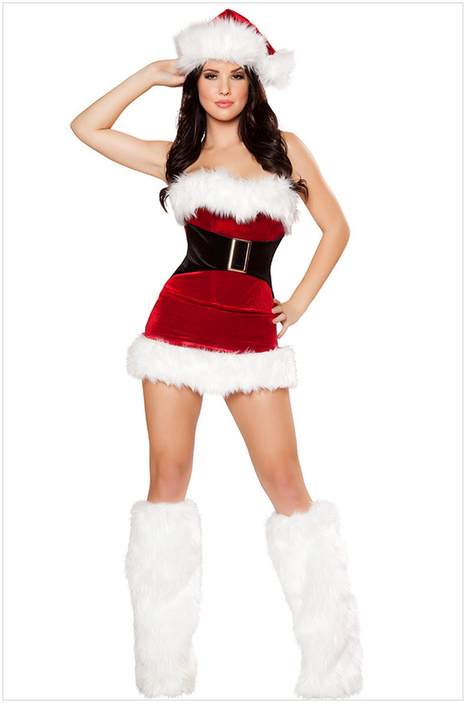 Strapless women Christmas costume | adult onesies sale-pajama.com | Scoop.it