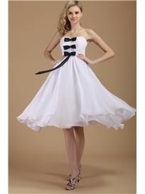 $ 116.99 Splendid Empire Sweetheart Tea-Length Bowknot Plus Size Dasha's Wedding Dresses   Fashion women   Scoop.it