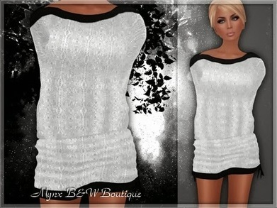 Permanent Freebie-My Best Seller-::MB:: Mesh White V3 Sweater Dress | fashion | Scoop.it