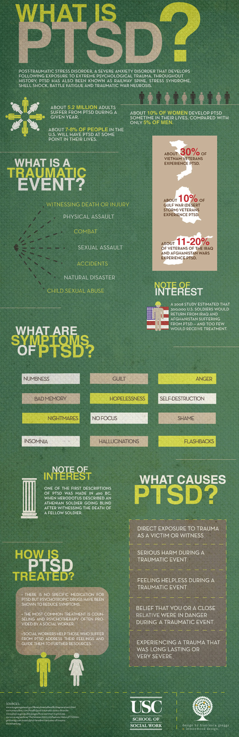 Post-Traumatic Stress Disorder (PTSD) Awareness Day 2011 [Infographic] | PTSD & Adventure Therapy Curation | Scoop.it