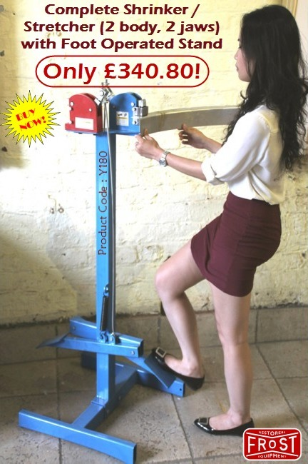 Complete Shrinker / Stretcher (2 body, 2 jaws) with Foot Operated Stand | Auto Restoration | Scoop.it