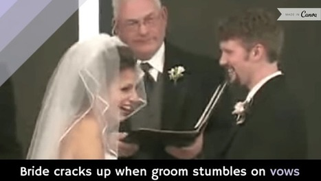 Bride cracks up when groom stumbles on vows [video] - Holy Kaw! | Photography | Scoop.it