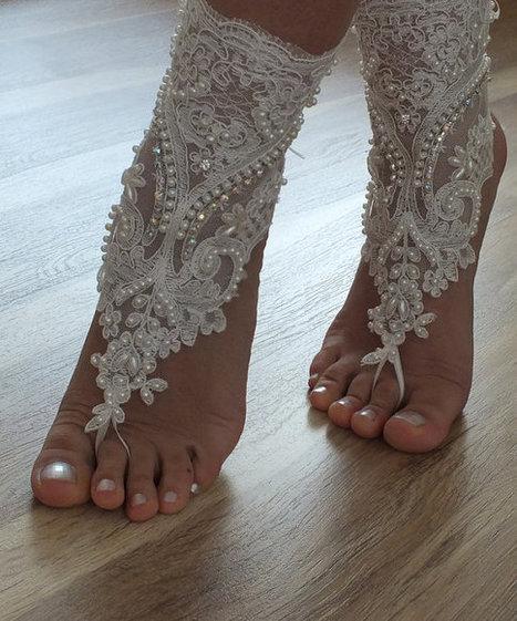 beach shoes,Unique design, bridal sandals, lariat sandals, wedding bridal, bellydance, gothic, wedding shoes, summer wear, handmade | wedding gloves | Scoop.it