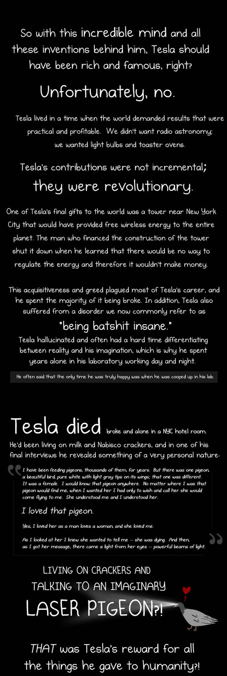 Why Nikola Tesla was the greatest geek who ever lived - The Oatmeal | Creative Science 2.0 | Scoop.it