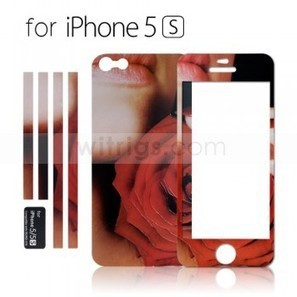 Luminous Embossed Rose Screen Protector for Apple iPhone 5S - Witrigs.com | Do iphone 5s need screen protectors | Scoop.it