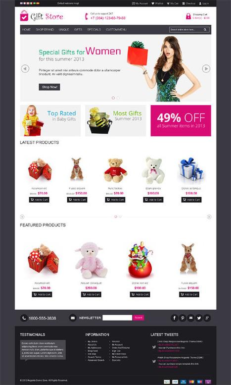 Gift Store, Magento Responsive Bottstrap Shopping Theme | Premium Download | Web Design, Ecommerce | Scoop.it