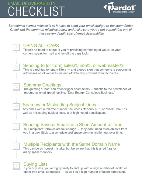 The Seven Deadly Sins of Email Deliverability [CHECKLIST] - Pardot   Website Advertising   Scoop.it