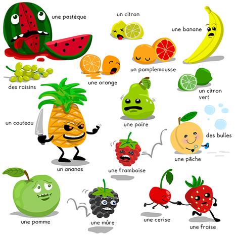 Pour rester en bonne santé, mangez au moins cinq fruits et légumes par jour. | FLE enfants | Scoop.it