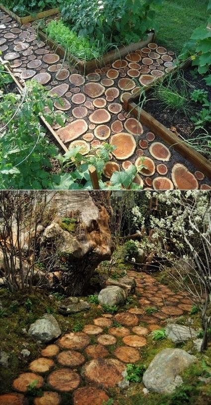 How to build a log pathway | Backyard Gardening | Scoop.it