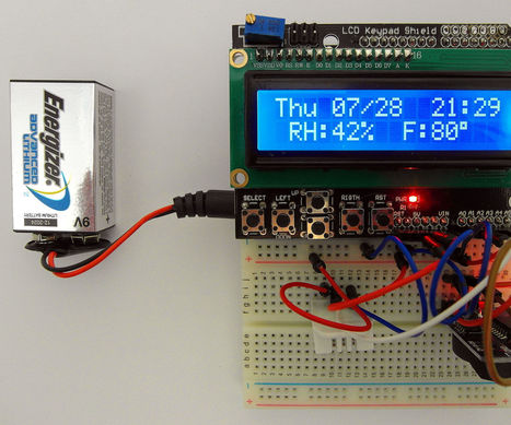 Day of The Week, Calendar, Time, Humidity and Temperature: Battery Saving Sketch, LCD Shield,  DHT22, RTC3231 and Arduino | Raspberry Pi | Scoop.it
