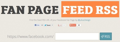 Get Instantly the RSS Feed of Any Facebook Fan Page | Social Media NL | Scoop.it