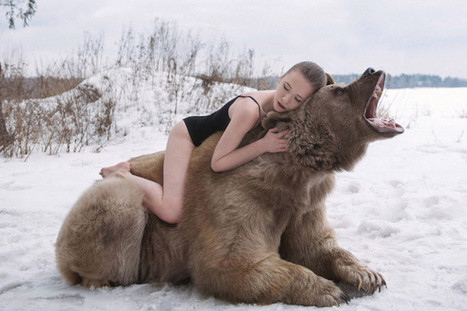 Fairytale-like Photos of Russian Models Posing with a Real Bear | Le It e Amo ✪ | Scoop.it