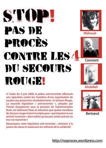 Bruxelles : Manifestation pour les inculpés du Secours Rouge   Occupy Belgium   Scoop.it